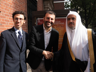 David Serero meeting with the Chief of the Muslim World League