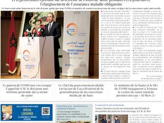 David Serero en couverture du journal marocain LE MATIN