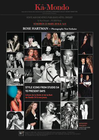 Style Icons of Fashion, Nightlife of Studio 54 photographed by ROSE HARTMAN to be auctioned in Paris
