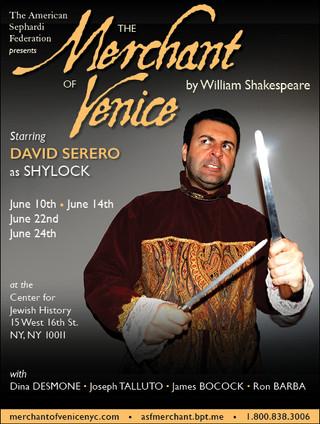 David Serero as Shylock in Sephardi Style in New York