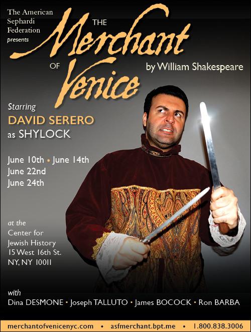 The Merchant of Venice David Serero as Shylock