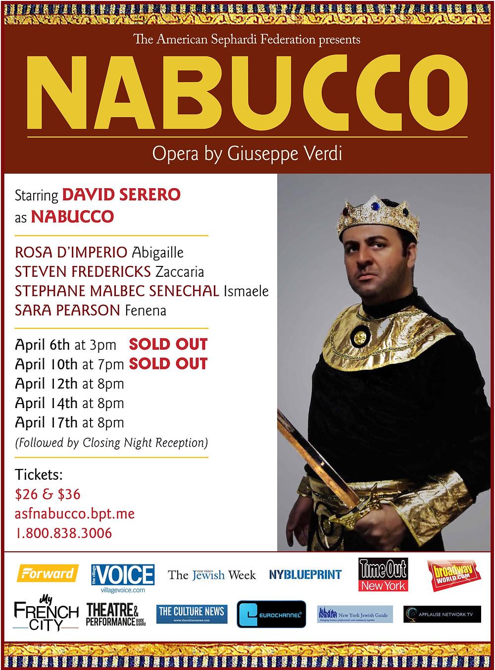 David Serero as Nabucco - The Culture News