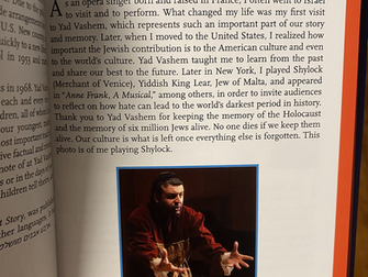 David Serero featured in Yad Vashem's new book