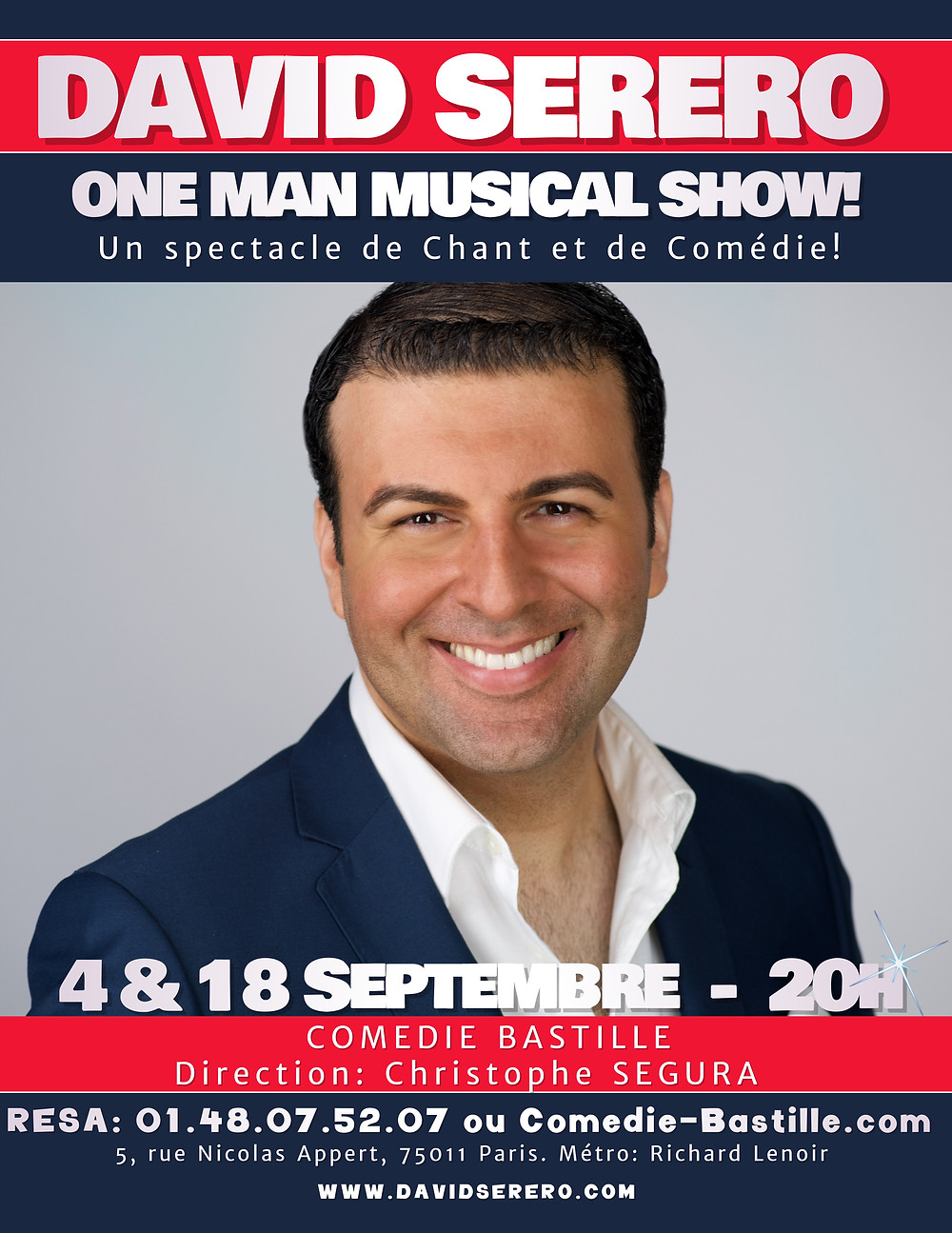 David Serero One Man Musical Show - Comedie Bastille à Paris