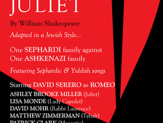 ROMEO and JULIET coming Off-Broadway in a World Premiere Jewish adaptation