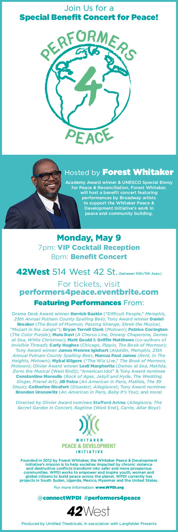 Performers 4 Peace - Forest Whitaker - The Culture News