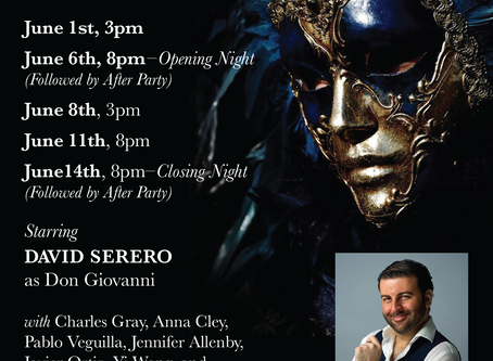 DON GIOVANNI coming Off-Broadway this June starring David Serero as Don Giovanni