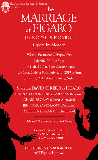 THE MARRIAGE OF FIGARO by Mozart to open Off-Broadway this July