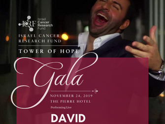 David Serero performs for the Israel Cancer Research Fund Gala at the Pierre Hotel in New York