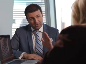 David Serero starring in the Bank of America / Merrill Lynch commercial