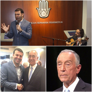 French baritone David Serero performed for the President of Portugal Mr Marcelo Rebelo de Sousa in N