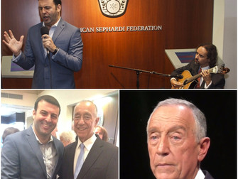 David Serero performed for the President of Portugal Mr Marcelo Rebelo de Sousa in New York