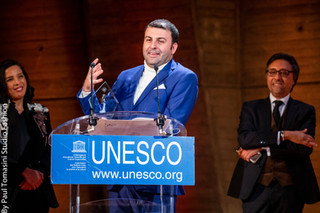 David Serero receives the Award for Diversity at the UNESCO