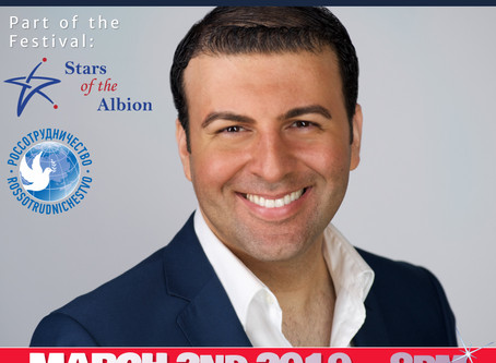 David Serero to perform at the Russian Culture House of London for the Stars of the Albion Festival
