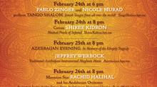 Session 2 of the American Sephardi Music Festival runs February 24-26 2019