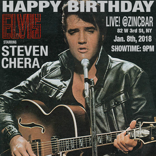 "STEVEN CHERA pays tribute to ELVIS PRESLEY on January 8th 2018 (The King's 82nd Birthday) in ""Ha"