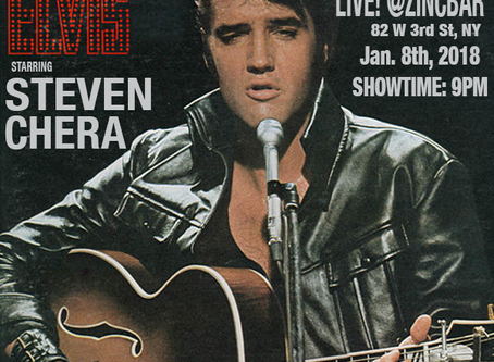 """STEVEN CHERA pays tribute to ELVIS PRESLEY on January 8th 2018 (The King's 82nd Birthday) in""""Ha"""