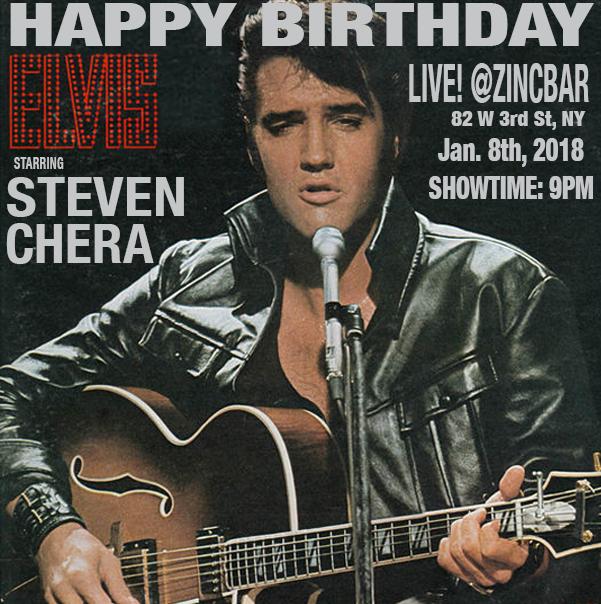 Happy Birthday Elvis by Steven Chera