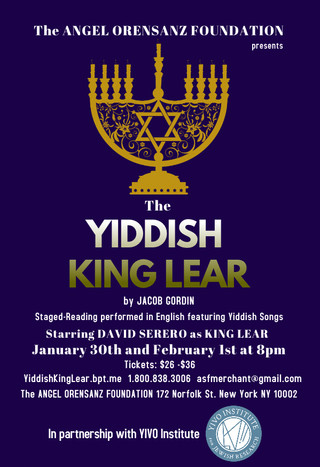 The YIDDISH KING LEAR by Jacob Gordin, one of the most famous Yiddish plays of all time