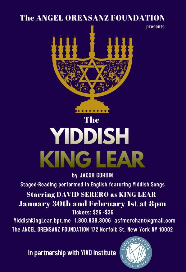 The Yiddish King Lear by Jacob Gordin - David Serero as Lear