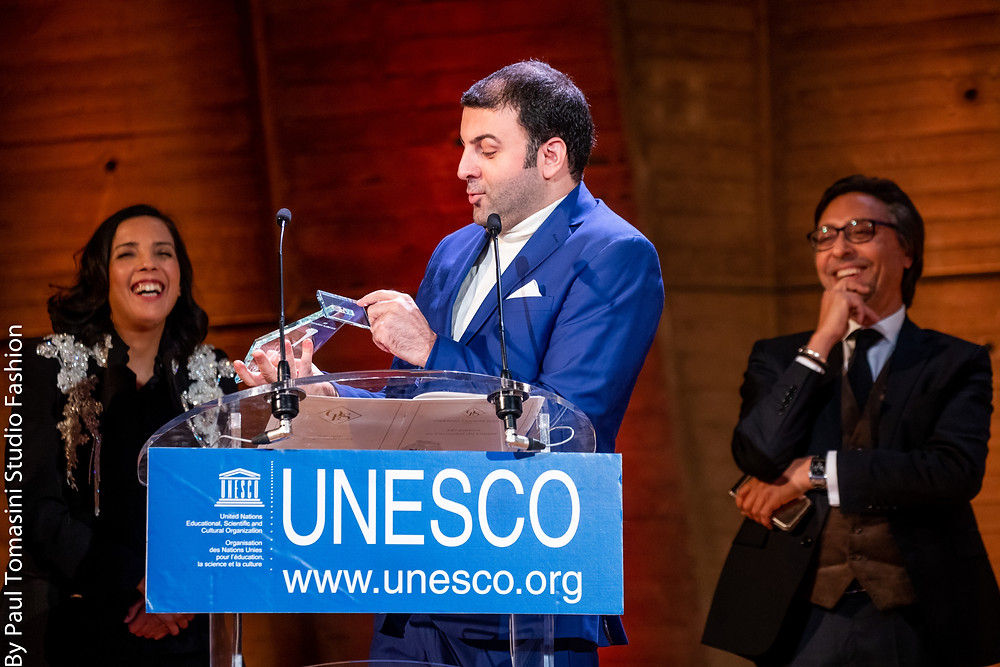 David Serero receives the Award for Diversity at the UNESCO in Paris