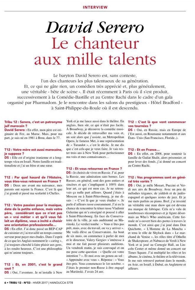 """David Serero """"Le chanteur aux mille talents"""" - Interview"""