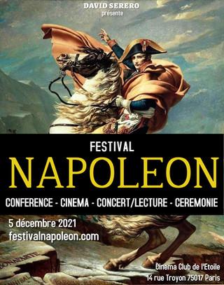 LE 1er FESTIVAL NAPOLEON SE TIENDRA A PARIS LE 5 DECEMBRE 2021