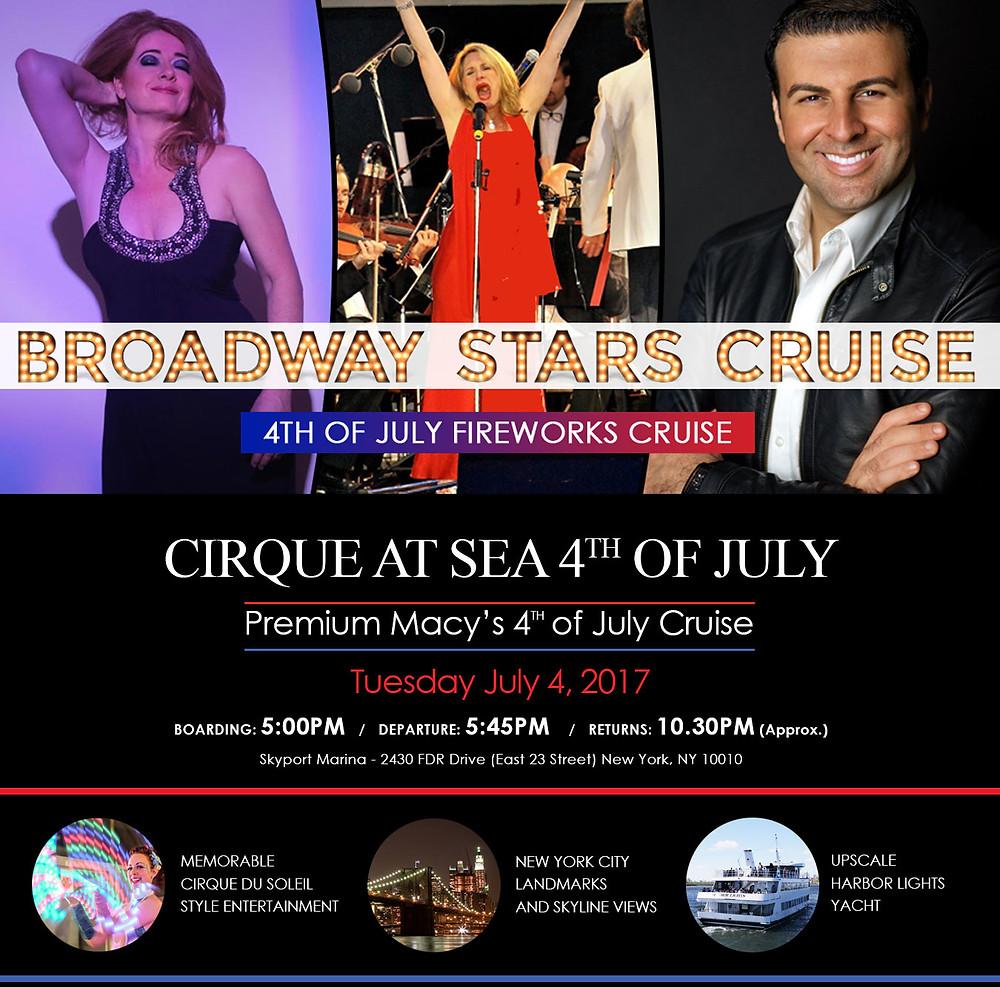 Macy's Fireworks David Serero Broadway Star