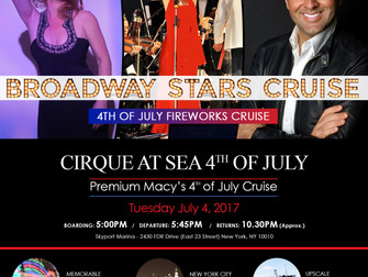 David Serero performs at the Broadway Stars Cruise for the Macy's Fireworks on July 4th to celeb