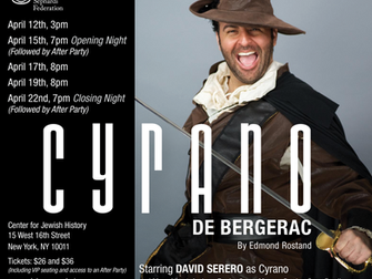 FRENCH ACTOR DAVID SERERO TO STAR AS CYRANO DE BERGERAC IN NEW YORK