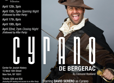 French actor and opera singer David Serero to star as Cyrano de Bergerac in New York