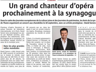 David Serero chante en Alsace à Thann