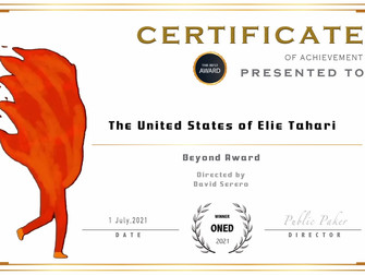 David Serero wins the BEYOND AWARD in Versailles for his documentary about Elie Tahari