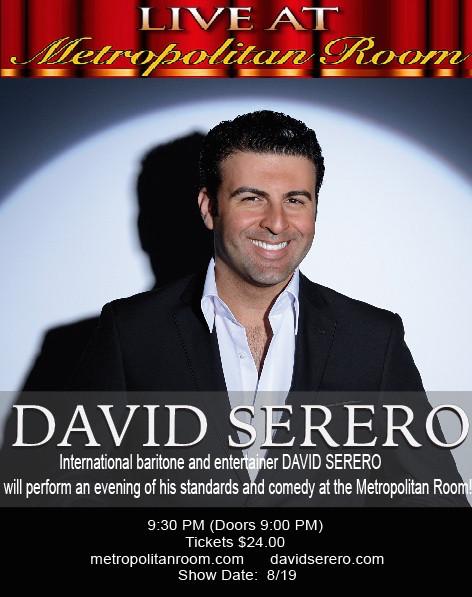 David Serero Metropolitan Room