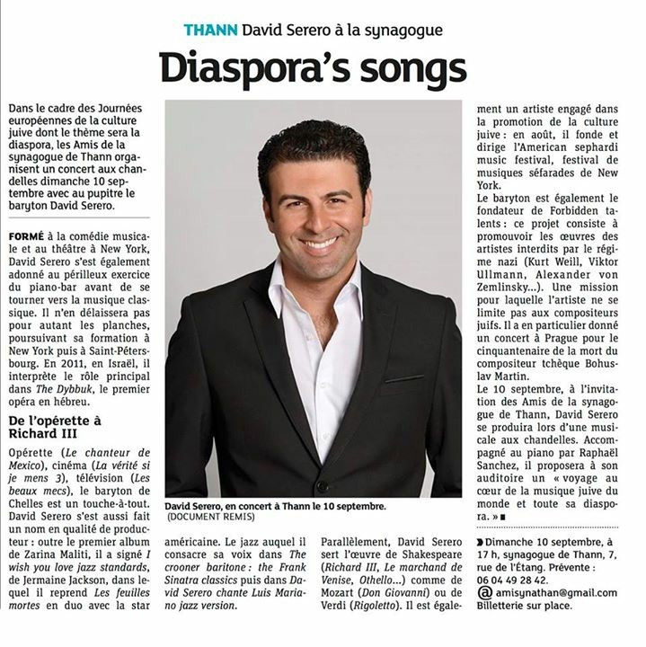 David Serero chanteur d'opera