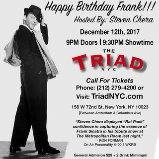 Steven Chera hosts the 3rd Annual Happy Birthday Frank at the Triad Theatre