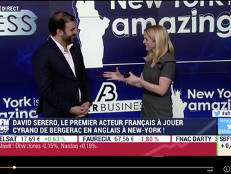 David Serero sur BFM TV Business en direct du Nasdaq pour parler de Cyrano de Bergerac à New York