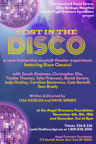 LOST IN THE DISCO an immersive musical featuring Disco Classics coming Off-Broadway this November