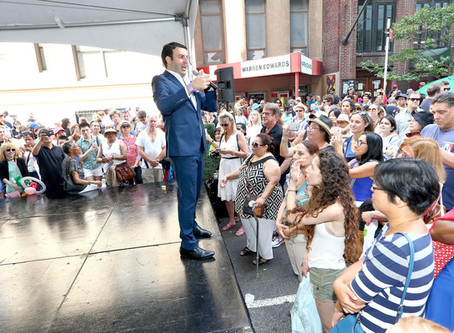 DAVID SERERO concert brings 2,000 people on 60th street for BASTILLE DAY