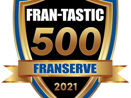 IMAGE Studios® recognized as a 2021 Fran-tastic 500 brand!