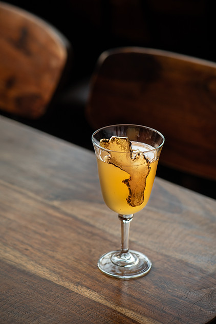 Apple and ginger cocktail