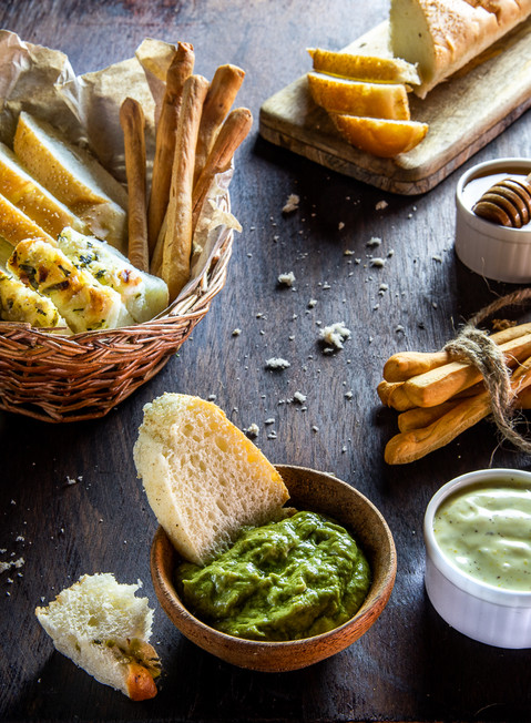 Assorted Breads and Dips