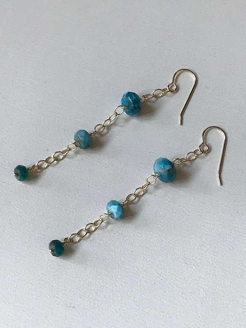 Gold Filled Apatite Earrings