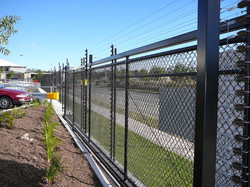 Security fence with gate