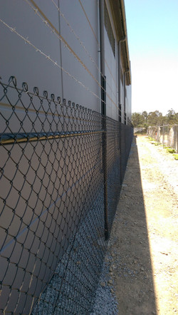 Chainwire security fence