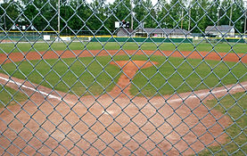Chainwire sports enclosure, chainwire tennis fence, chainwire baseball fence