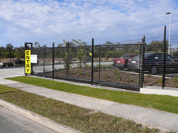 Security fence with electric gate