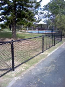 Residential chainwire fence