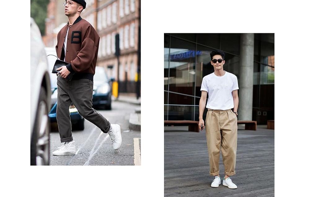 טרנדים גבריים מכנסיים בגזרה רחבה