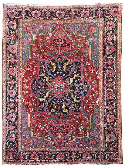 9A0366 Persian Heriz 8.7x11.10